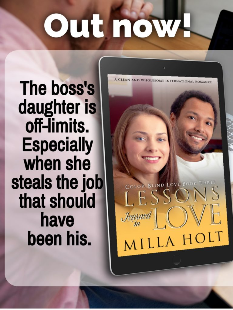 Promotional image for Lessons Learned in Love by Milla Holt